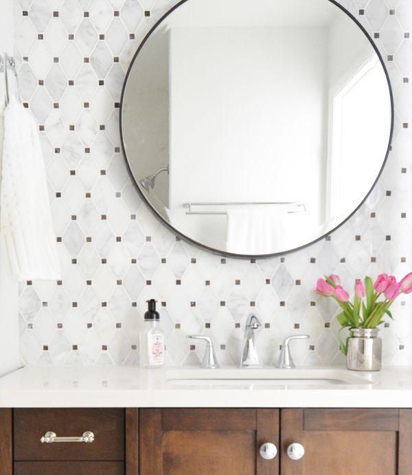 tile looks like little polka dots ... so cute!