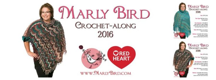 The Marly Bird Poncho Crochet-along  is sponsored by Red Heart.  That's right, it's that time of year for a crochet-along and boy do I have a good one for you. Welcome to the details page for the Marly Bird Popular Poncho Crochet-along.  This is a new design of mine that is fun to ...