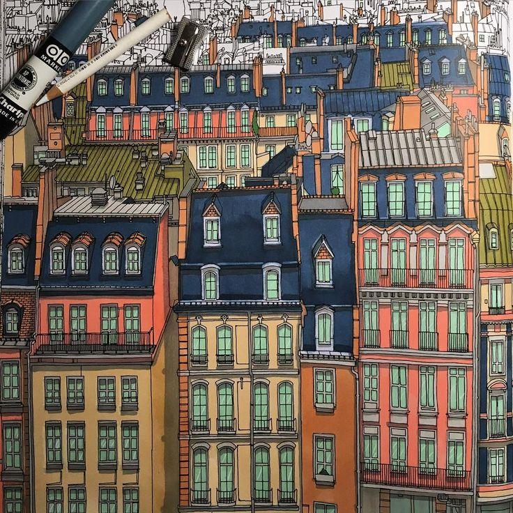 Paris From Fantastic Cities Coloring Book