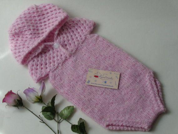 9-12 Months.Baby Overalls.Newborn Pants Photo Prop by knitsdwarfs