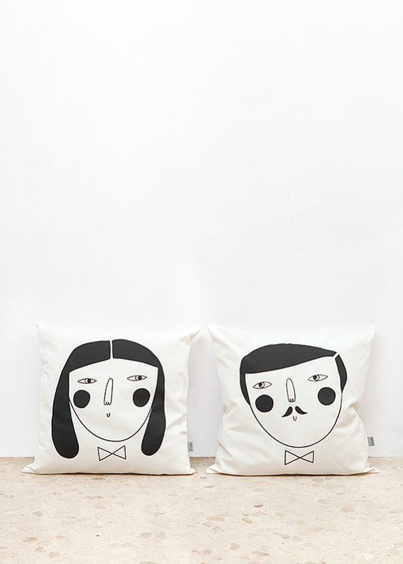 man & woman cushion cover  Designed by Depeapa. Made in Spain