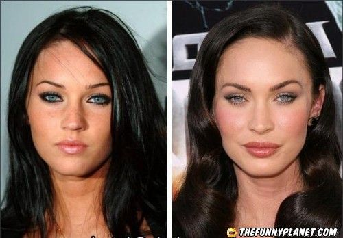Megan Fox - Before and After.