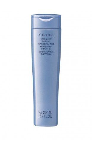 Shiseido - Extra Gentle Shampoo-Normal Hair -  21,06 € - Extra Gentle Shampoo-Normal Hair shampo ultradelicato Shiseido di uso quotidiano per capelli normali.  Deterge efficacemente, senza danneggiare la cuticola o denaturare le proteine del capello. Protegge la cuticola del capello, aiutandolo a mantenersi sano, morbido ed elastico.  Previene la formazione di nodi e lascia la capigliatura soffice, lucente e facile da pettinare.  200 ml