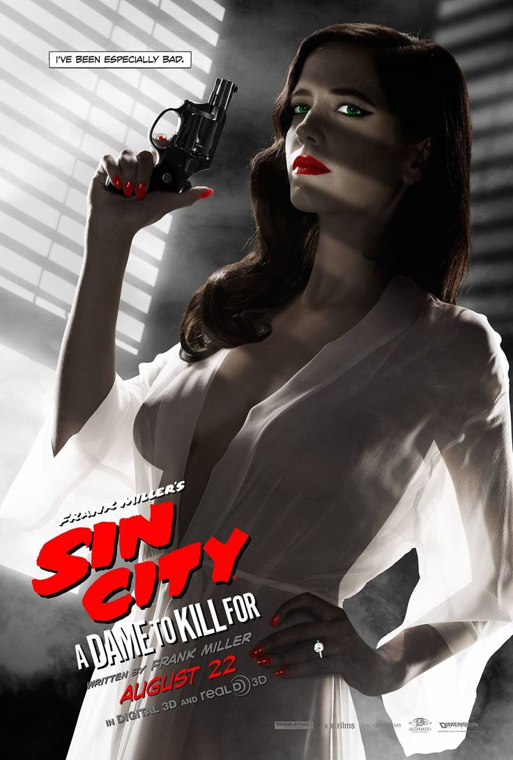 A new poster has arrived for Sin City: A Dame to Kill For, and it has just a bit of Eva Green sideboob. The MPAA freaks out in kind.