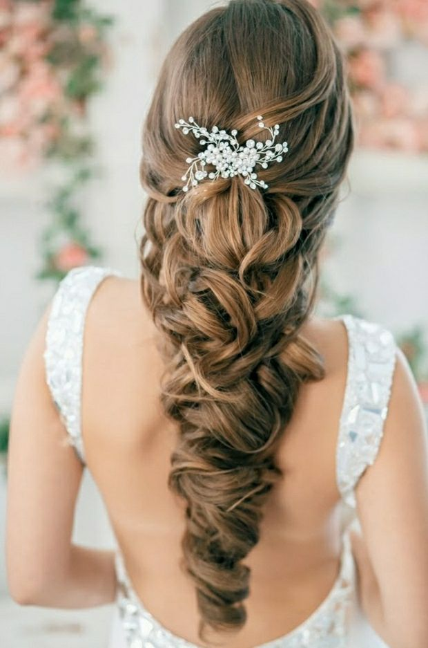 Hairstyle for wedding - Elegant bridal hairstyle with curls