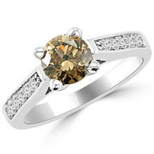 Champagne Brown Diamond Bridal Engagement Ring