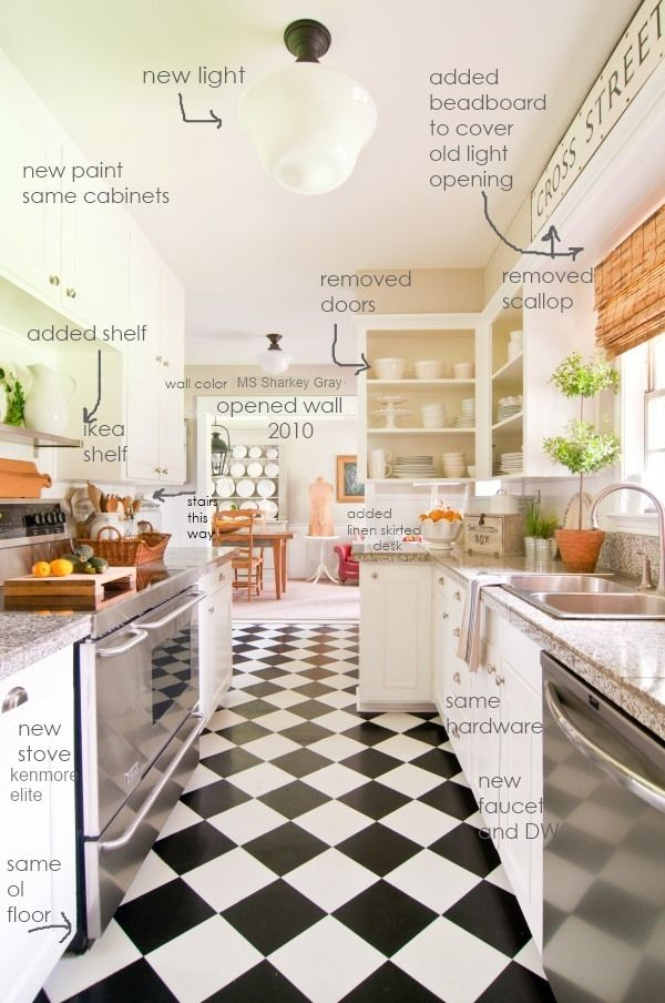 398 best home decor images on pinterest for the home for Galley kitchen update ideas