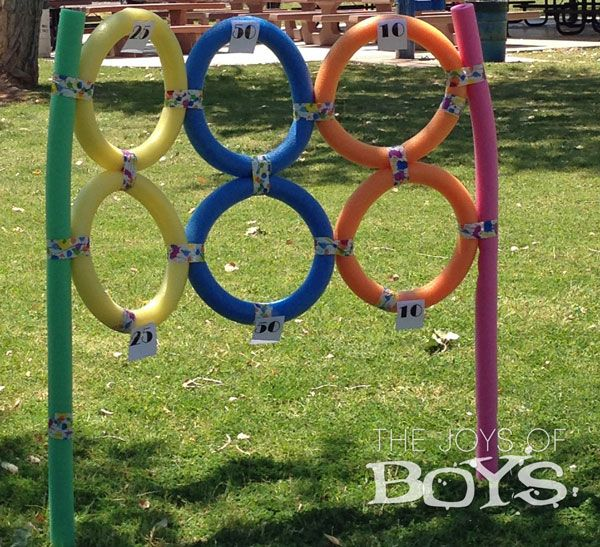 Sports Birthday Party, Pool Noodle Target - lots of good ideas!
