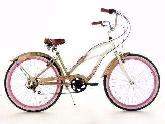 KS Cycling Beach-Cruiser 6 Gänge Damenfahrrad Cherry Blossom 26 Zoll