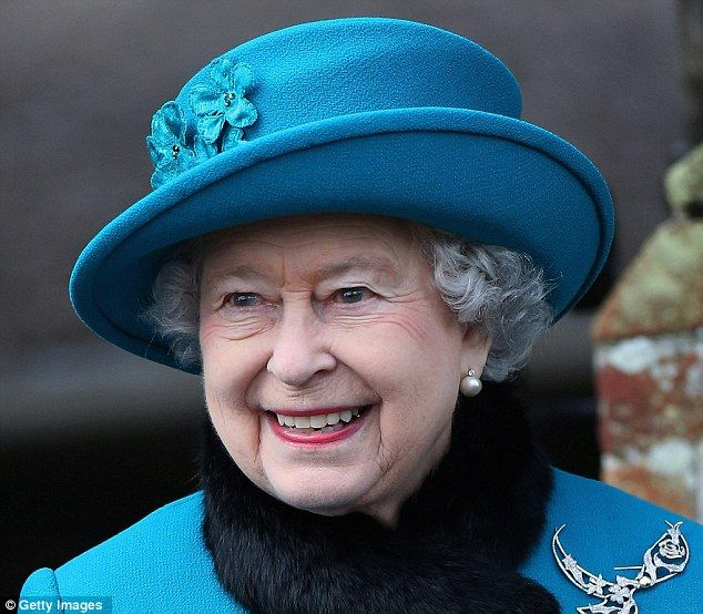 Queen Elizabeth II (pictured a fortnight ago on Christmas Day) is recruiting a washer-up