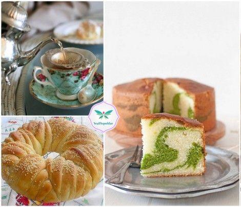 Çay sofraları için ıspanaklı ebruli kek tarifi, açma tarifleri, evde simit nasıl yapılır, açma simit tarifi, değişik kek tarifi