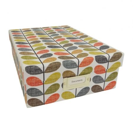 Orla Kiely Multi Stem Storage Box A4 Stay organised and keep those bits and pieces neatly stored in this Multi Stem Storage Box. Available from Howards Storage World.