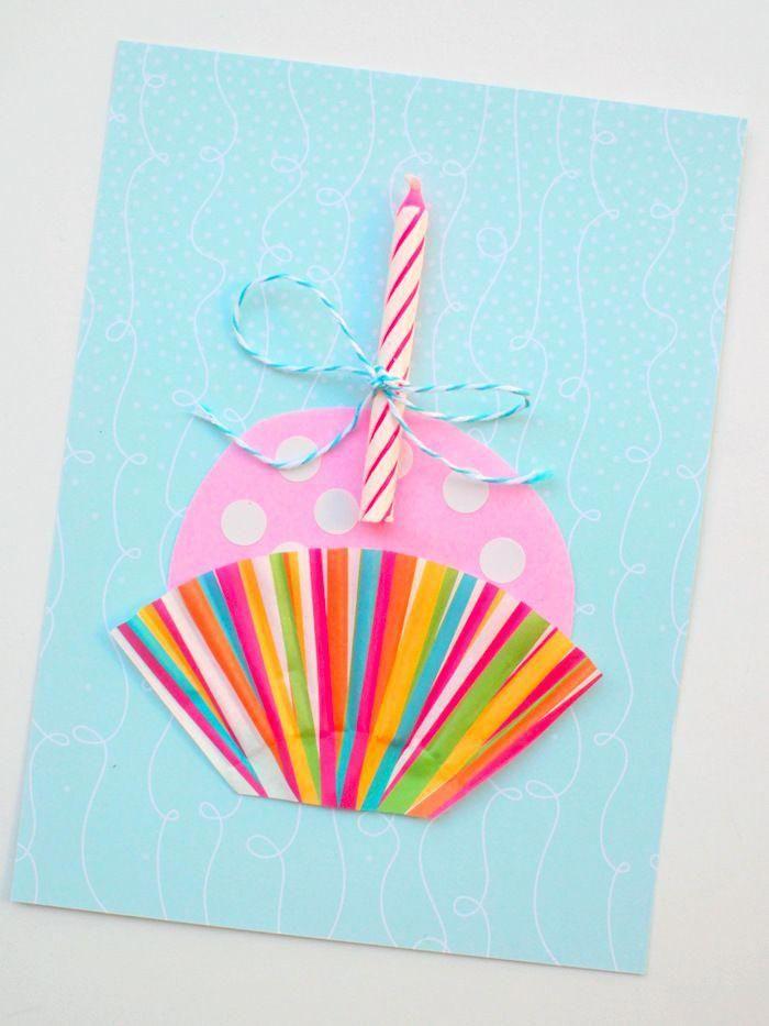 Открытки с днем рождения своими руками с нитками