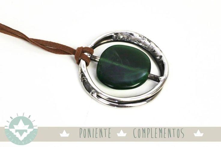 Colección Anilla piedra Esmeralda colgante