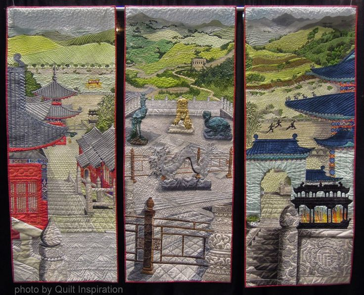 Chinese Journey in Three Parts by Stephanie Crawford, United Kingdom - Best of the 2014 Pacific International Quilt Festival - Day 2 quiltfest.com #quilting
