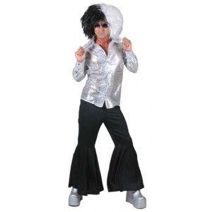 Déguisement hippie pantalon noir homme.
