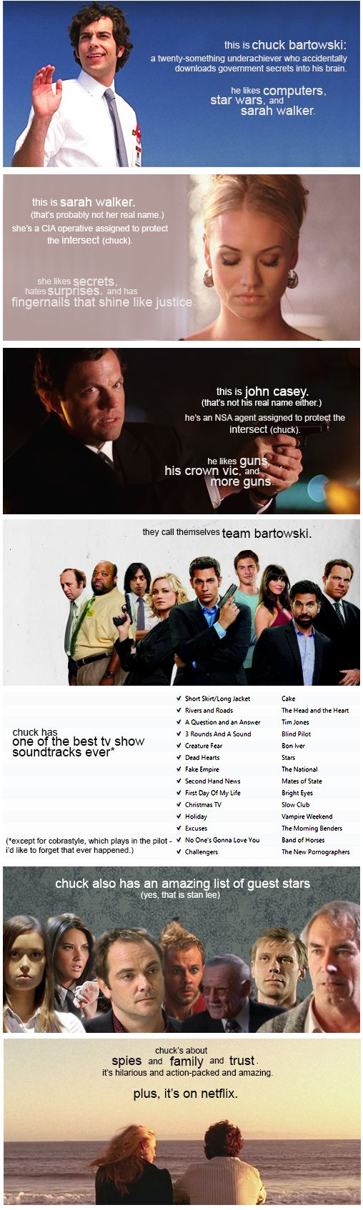 You should really watch #Chuck This will make it easier to explain to my friends why to watch Chuck :')