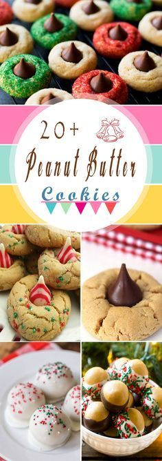 20+ Best Ever Peanut Butter Cookies - Christmas Cookies Tray List. These are great for Christmas dessert party and so delicious to eat... #christmascookies #christmasgifts