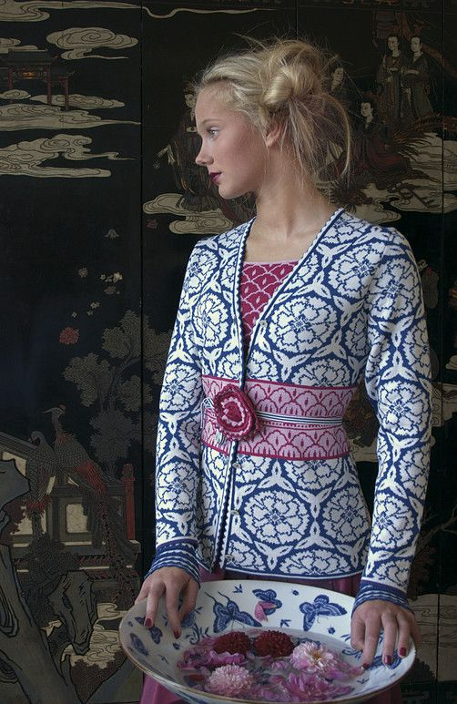 Keep warm this winter with a beautiful Norwegian knit sweater.  I love all the little details.  These pictures remind me of Victo...