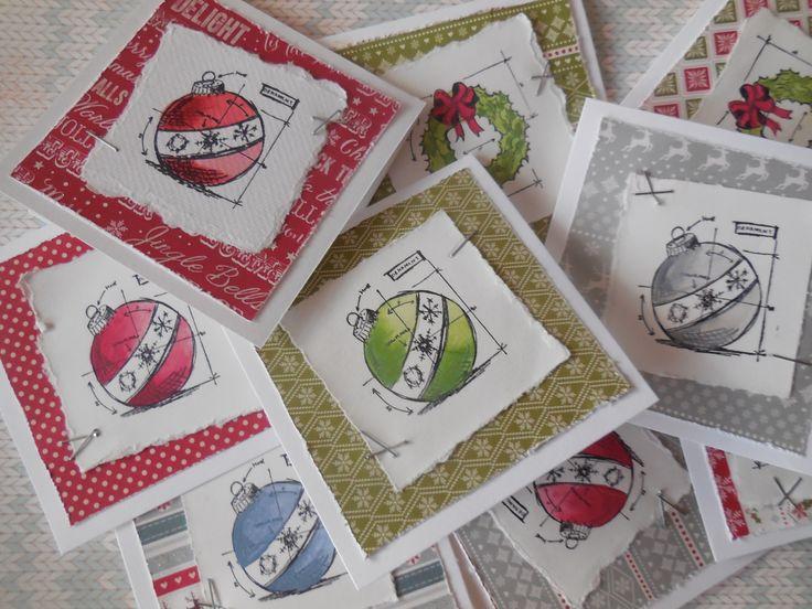 Tim Holtz Blueprints a Christmas Wishes od First Editon - variant kolik si jen vymyslím....:):