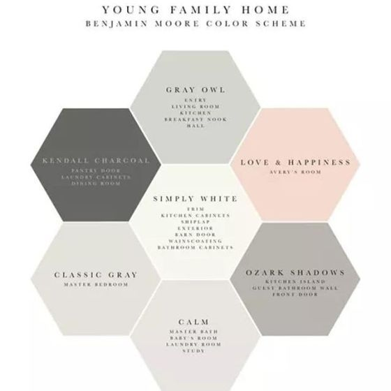 2417 best color palettes images on pinterest wall colors for Benjamin moore pristine