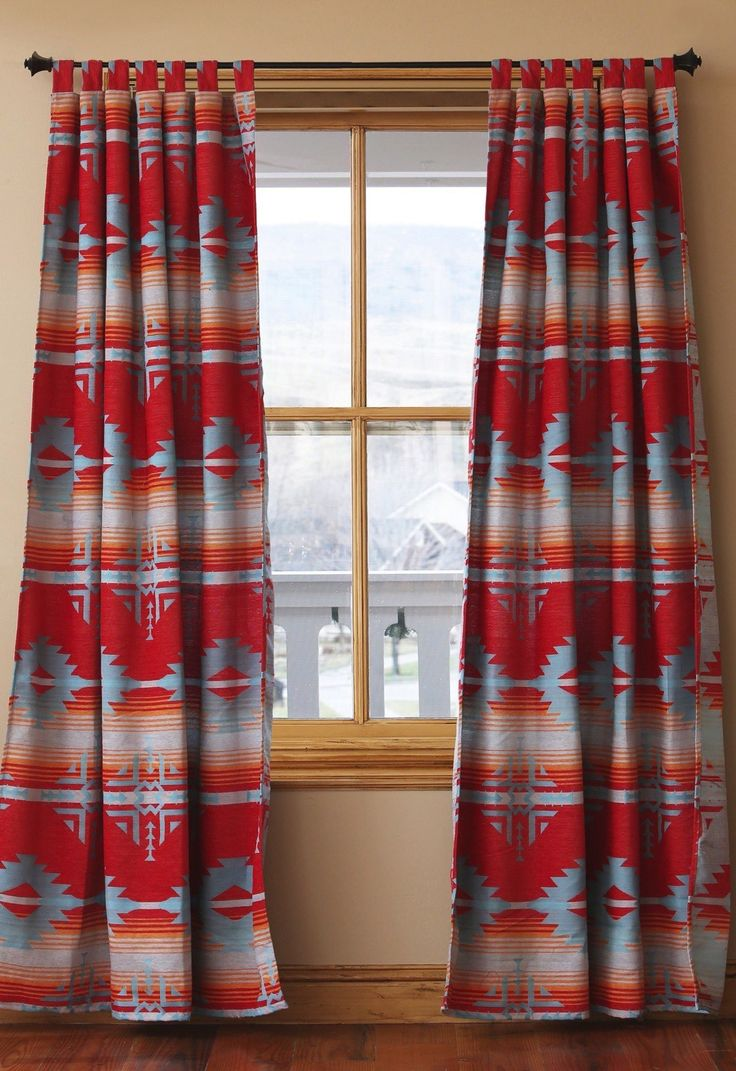 Red Ranch Southwestern Curtains - Southwestern Decor
