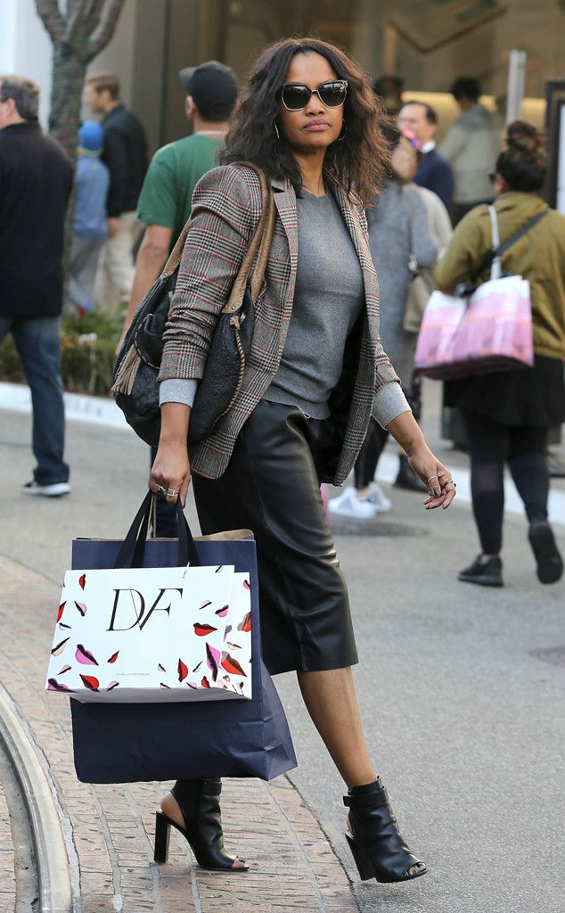 Garcelle Beauvais from The Big Picture: Today's Hot Pics  With six days before Christmas, the actress finds the perfect gift at Diane von Furstenberg's store at The Grove shopping center.