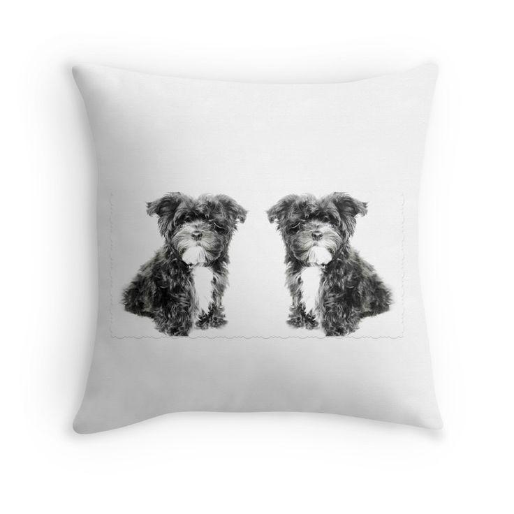 Bolonka Zwetna lief kussentje. Dit kleine hondje op deze kussen kan je bestellen via: https://www.redbubble.com/people/bbrigitte/works/23516240-twice-a-cute-little-puppy?p=throw-pillow&ref=artist_shop_grid