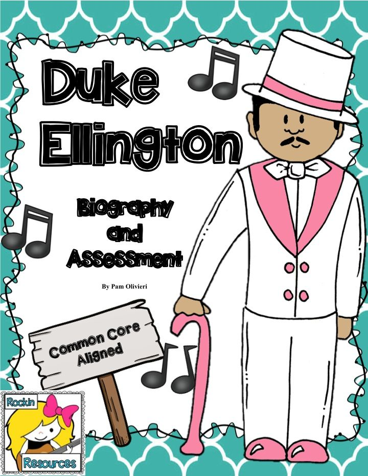 Free!!! The vocabulary handouts were formulated from the beautifully written book Duke Ellington by Andrea Davis Pinkney. I then downloaded a biography off of PBS kids and created a 2 page test to go along with it. It is a great cold read to either teach text evidence (highlighting skills) or practice for standardized tests.
