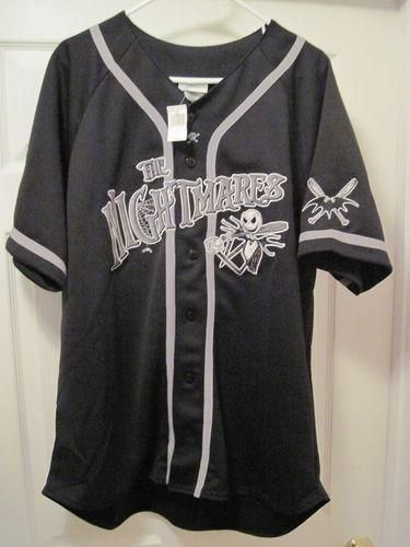 Disney The Nightmare Before Christmas Baseball Jersey Size Large L NWT Rare