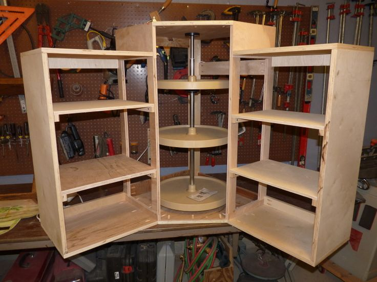 Lazy Susan Cabinet With Side Bookcases For The Home Pinterest Discover More  Ideas About Lazy Susan For Upper Corner Cabinet