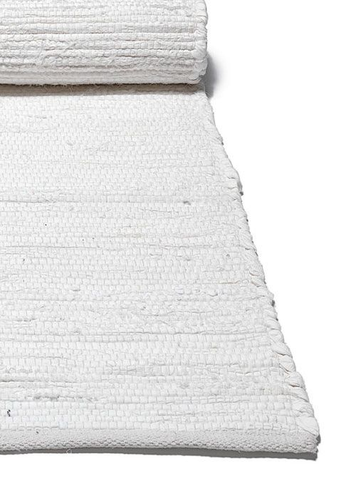 Plain white Scandinavian rag rug and hallway runner from Skandihome, home of Swedish and Scandinavian rugs and gifts