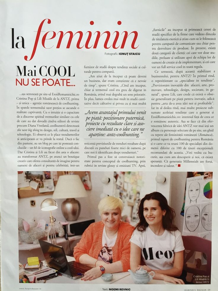 Interview with Cristina Pop & Lili Misaila, Antz Communication/ Eroii Romaniei Chic. Harper's BAZAAR Business, March-April 2012
