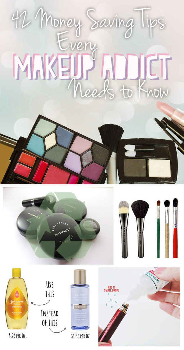 Some beauty tips are kinda basic but good to share....42 Money-Saving Tips Every Makeup Addict Needs To Know