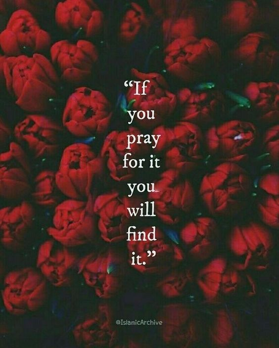 Pray for it. Don't stop! #Salah #Faith #Hope