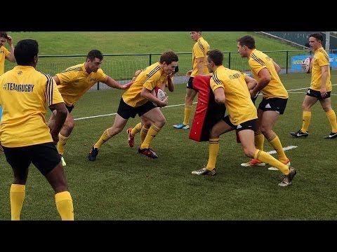 Rugby: Ball Carry and Leg Drive Drills - YouTube
