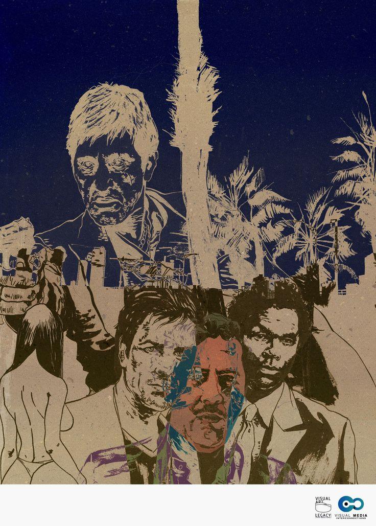 #MiamiVice #miami #comic #Scarface #AlPacino #Caracortada #Miami