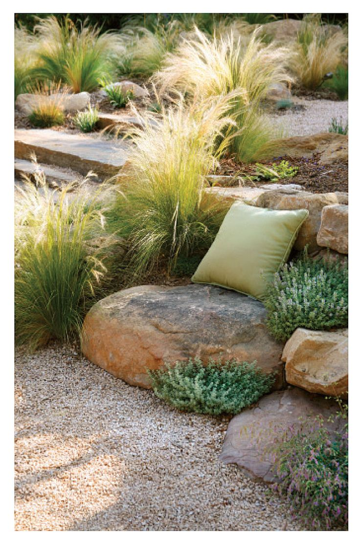 I am so doing this!!! I love it!! Ornamental Grasses | Landscaping | Landscape Care & Ideas