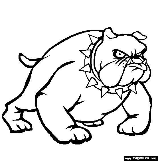 bulldog coloring page free bulldog online coloring