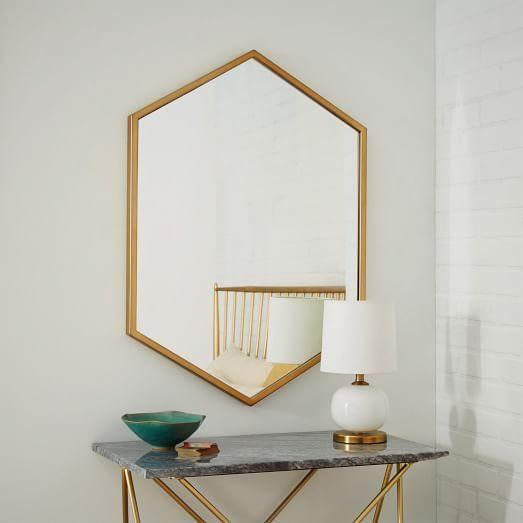 Metallic home decor ideas | Metal Framed Mirror, $249; at West Elm