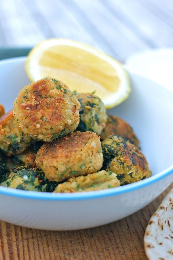 Homemade Green Falafels Mid week recipe Vegetarian