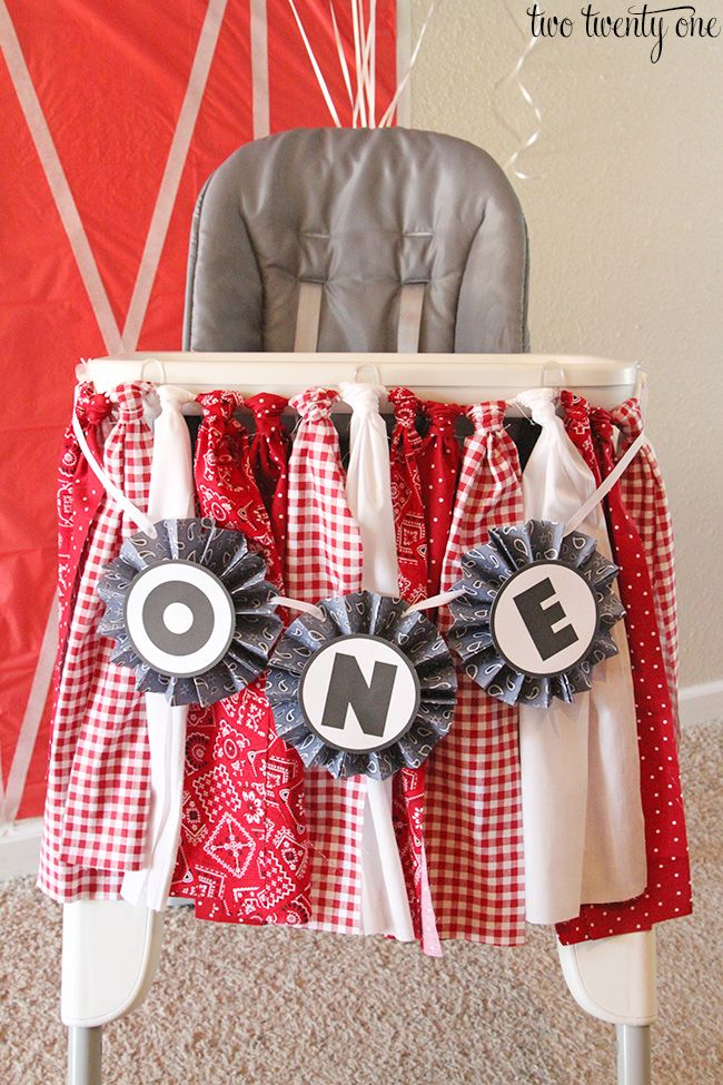 I got some requests to show how I made the high chair fabric garland for Owen's barnyard birthday party. So here you go! You can make this fabric garland for any occasion. It looks great on mantles, walls, and even secured to the front of pieces of furniture. It's not limited to only highchairs, my …