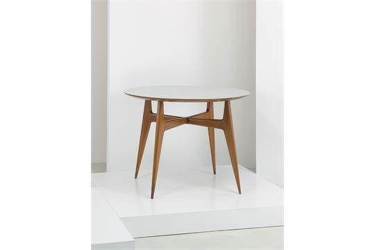 TABLE BY G. PONTI Tavolo da pranzo, I.S.A. anni '50. Legno, formica Expertise Gio Ponti Archives