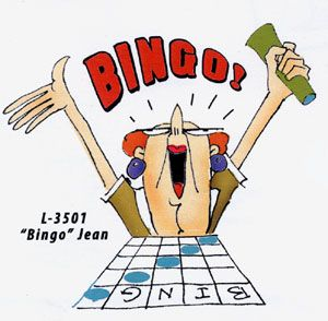Jean has her five in a row!!Get more images of Jean UM on cling cushion.  3511 for Bingo Jean and 3510 at the Slot Machine and Sound Off Jean 3512Update your catalog with this supplementSKU  CSNOJEAN