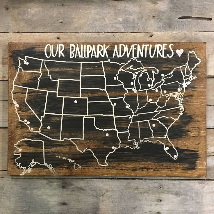 Us Lat Long Map%0A Such an awesome way to track your baseball adventures  Baseball Travel Map  US Wood Map