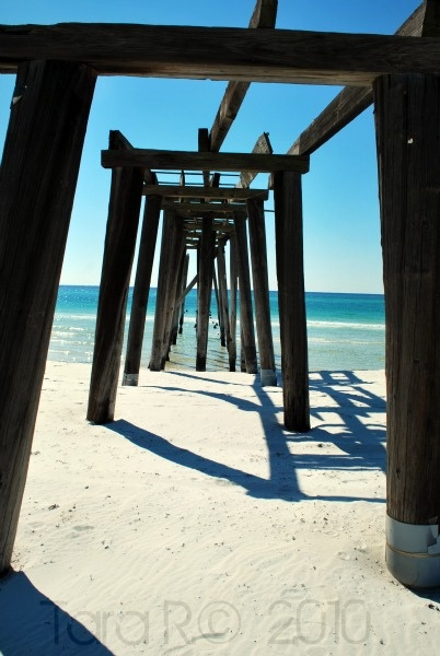 Abandoned pier at Camp Helen State Park, near Panama City, FL