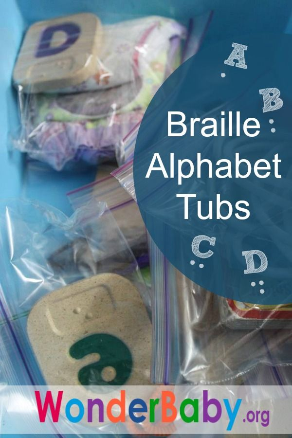 Make Your Own Braille Alphabet Tubs