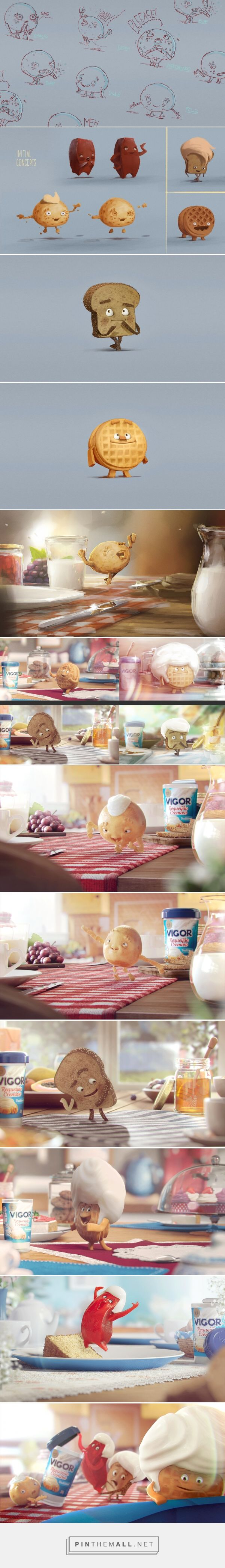 Requeijão Vigor on Behance... - a grouped images picture - Pin Them All