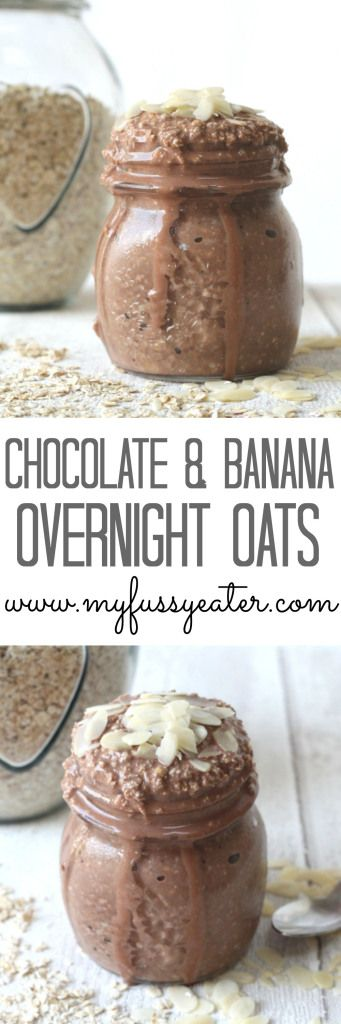 Cocoa Banana Overnight Oats. A healthy and delicious breakfast for the whole family www.myfussyeater.com