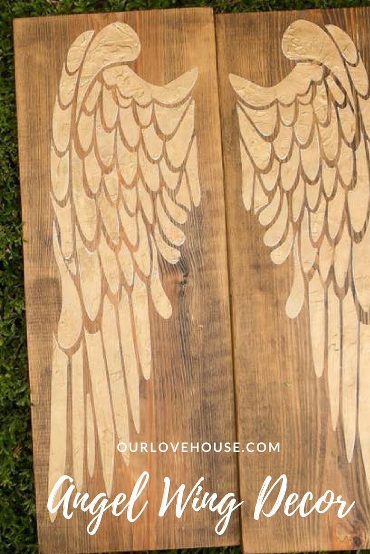 Gold Angel Wings - Tribute to a loved one - Home Decor - Angel wing ...